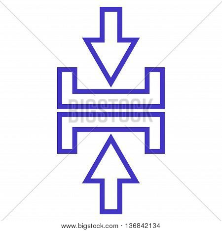 Pressure Arrows Vertical vector icon. Style is thin line icon symbol, violet color, white background.