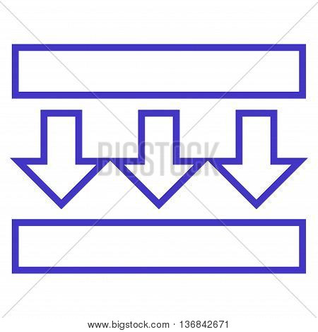 Pressure Vertical vector icon. Style is stroke icon symbol, violet color, white background.