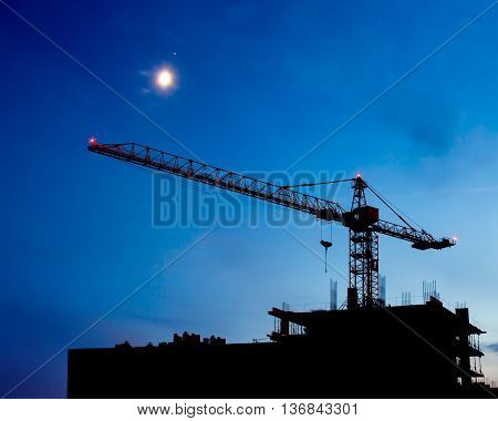 Construction Site Night Scene