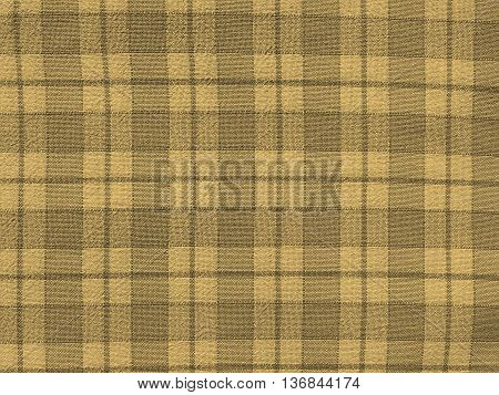 Checkered Tablecloth Background Sepia