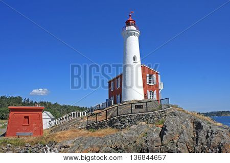 Fisgard lighthouse on Vancouver Island in Canada