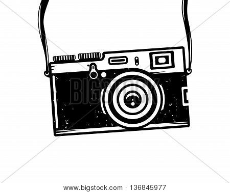 Vintage photo camera, vector illustration for your cool design, eps10