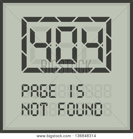 Page in not found. Error 404 web page template. Ready to use vector illustration.