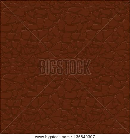 brown leather pattern, seamless relief vector texture