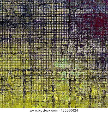 Abstract colorful background or backdrop with grunge texture and different color patterns: yellow (beige); brown; gray; black; purple (violet)