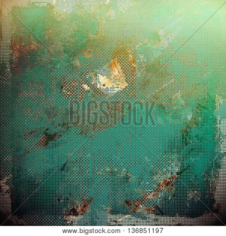 Abstract grunge weathered background of vintage texture. With different color patterns: yellow (beige); brown; gray; blue; green; cyan