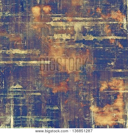 Grunge background or vintage texture in traditional retro style. With different color patterns: yellow (beige); brown; gray; blue; purple (violet)