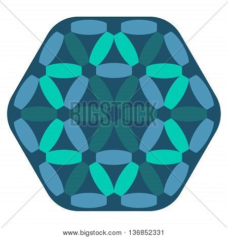 Vector abstract blue pattern on white background