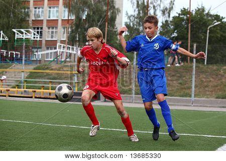 Football players with ball