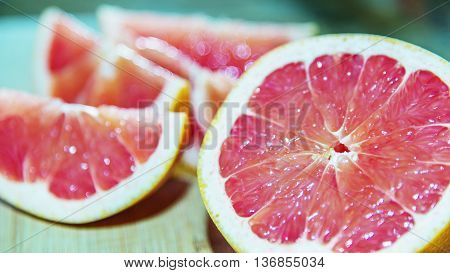 Ruby Red Grapefruit ready to eat and nutritious breakfast.