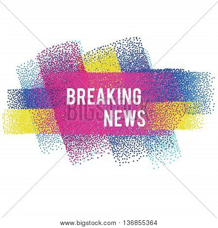 Breaking news vector banner. Vector illustration isolated design element for headlines background for web sites flyers and other business
