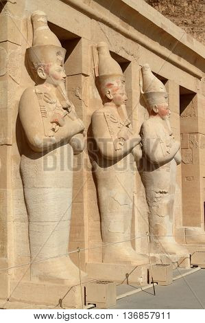 The ancient Temple of Hatshepsut in Egypt
