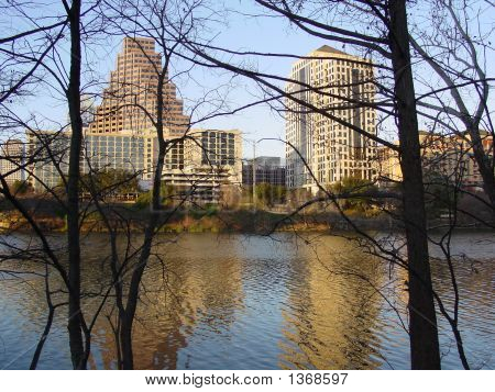 Austin Texas Winter Reflection