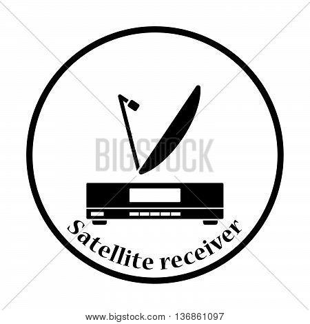 Satellite Receiver With Antenna Icon