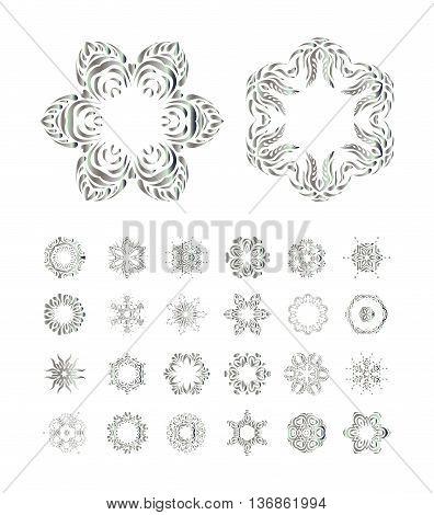 Hand Drawn Vector Mandala On White Background