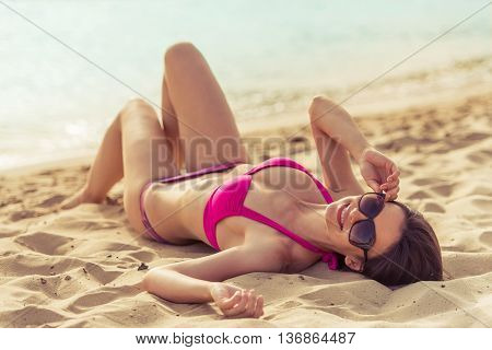 Beautiful Girl On The Beach