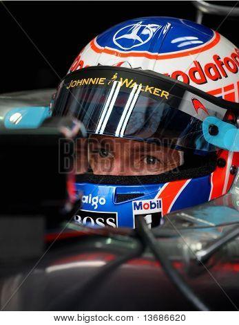 F1 Driver Jenson Button Sepang Malaysia 2010