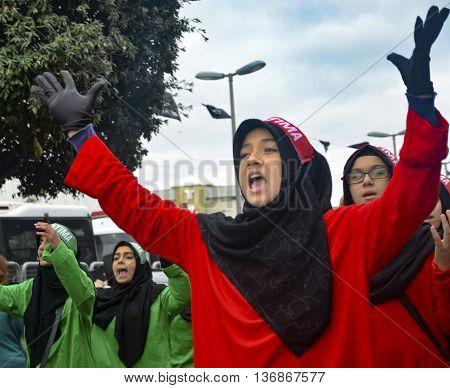 Istanbul Turkey - November 3 2014: Universal Ashura Mourning Ceremony. Day of Ashura. A Universal Ashura Mourn Ceremony
