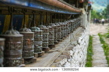 Buddhists Symbols in Nepal, Travel at Annapurna Trail