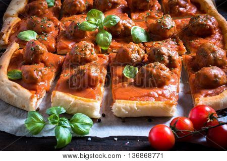 Served Pastry With Meatballs