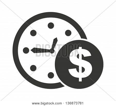clock and money isolated icon design, vector illustration  graphic