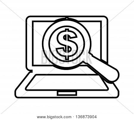 search money online isolated icon design, vector illustration  graphic