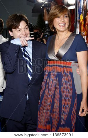 Mike Myers and Mariska Hargitay at the Los Angeles premiere of 'The Love Guru' held at the Grauman's Chinese Theater in Hollywood, USA on June 11, 2008.