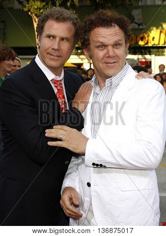 Will Ferrell and John C. Reilly at the Los Angeles premiere of 'Step Brothers' held at the Mann Village Theatre in Westwood, USA on July 15, 2008.