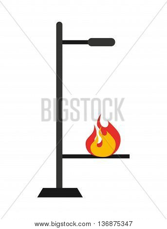laboratory burner isolated icon design, vector illustration  graphic