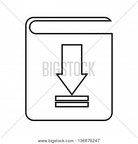 electronic book download  isolated icon design, vector illustration  graphic