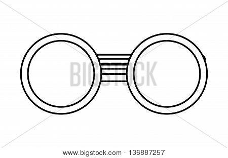 glasses grandparents isolated icon design, vector illustration  graphic