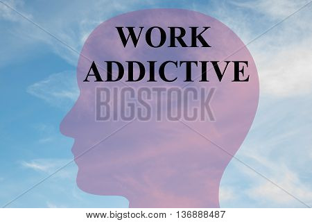 Work Addictive Mental Concept