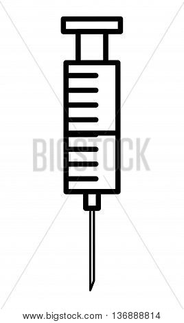 injection medical isolated icon design, vector illustration  graphic