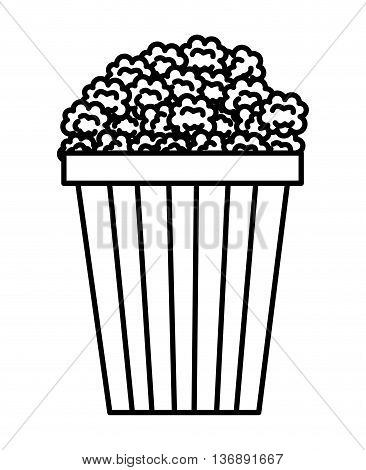 pop corn isolated icon design, vector illustration  graphic