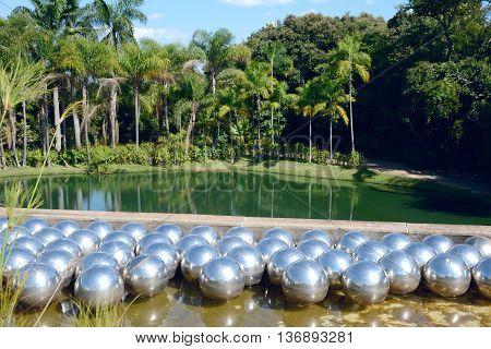 Inhotim Public Art Museum In The Brazilian State Of Minas Gerais