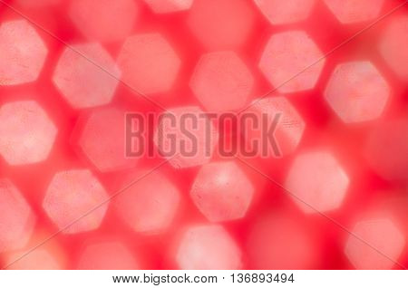 Dark Red Blurred Background With Bokeh Hexagonal