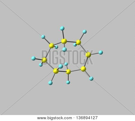 Cyclooctene is a cycloalkene with an eight-membered ring. It is notable because it is the smallest cycloalkene that can exist as either the cis- or trans-isomer with the cis-isomer more common. 3d illustration