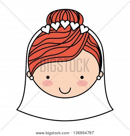 wife character isolated icon design, vector illustration  graphic