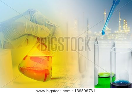 Scientist With Equipment Laboratory For Science Concept.