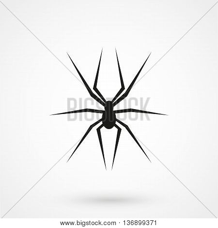 Spider Icon On White Background In Flat Style. Simple Vector Illustration