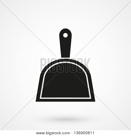 Dustpan Icon On White Background In Flat Style. Simple Vector Illustration