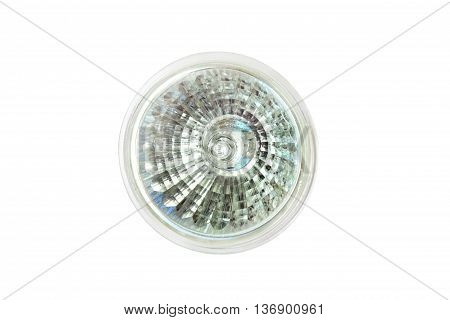 Halogen lamp for turning the lamp isolated on white background.