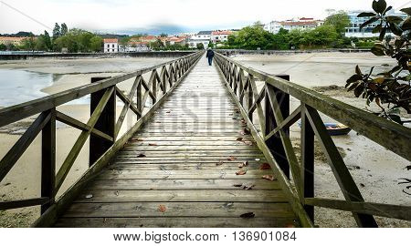 Old Bridge In Santa Cruz Island, Oleiros, Rias Altas, A Coruna, Spain