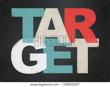 Finance concept: Painted multicolor text Target on School board background, School Board