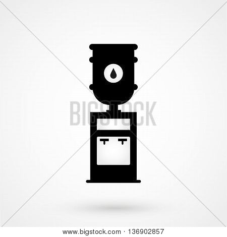 Water Cooler Icon On White Background In Flat Style. Simple Vector Illustration