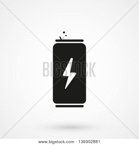 Energy Drink Icon On White Background In Flat Style. Simple Vector Illustration