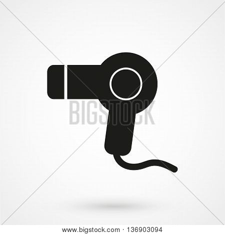 Hairdryer - Vector Icon On White Background In Flat Style. Simple Vector Illustration