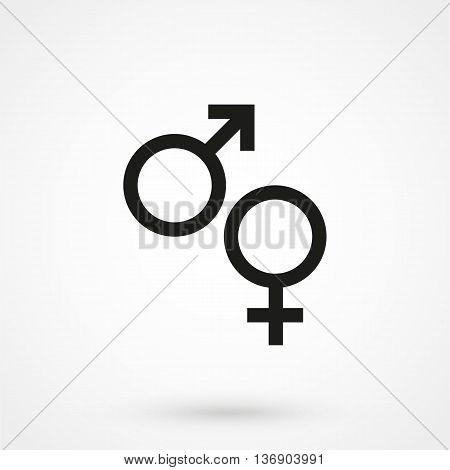 Gender Icon On White Background In Flat Style. Simple Vector Illustration