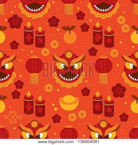 Seamless pattern for Chinese New Year celebration