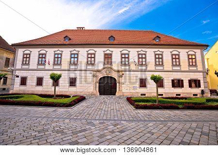 Town of Varazdin baroque architecture northern Croatia